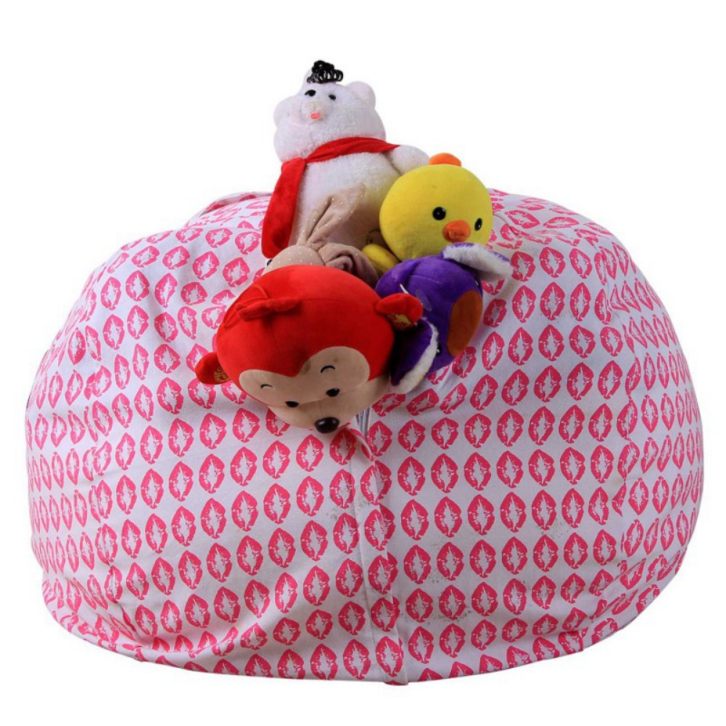 Kid Baby Stuffed Animal Cotton Bean Bag Storage